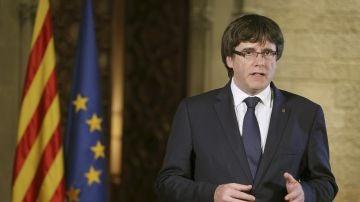 Puigdemont comparece tras la aplicación del artículo 155