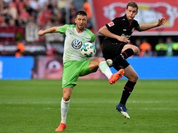 Ignacio Camacho, en un partido con el Wolfsburgo.