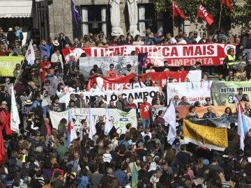 Manifestaciones en Galicia por los incendios