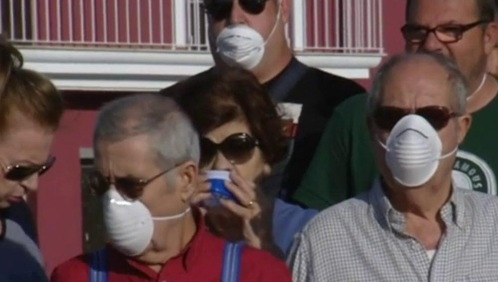 Análisis a los vecinos de Coria del Río por gases tóxicos