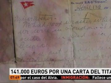 Carta de una víctima del Titanic