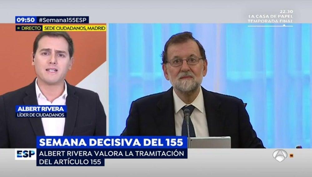"""Rivera: """"Se le está devolviendo la voz que Puigdemont tenía secuestrada al pueblo de Cataluña"""""""