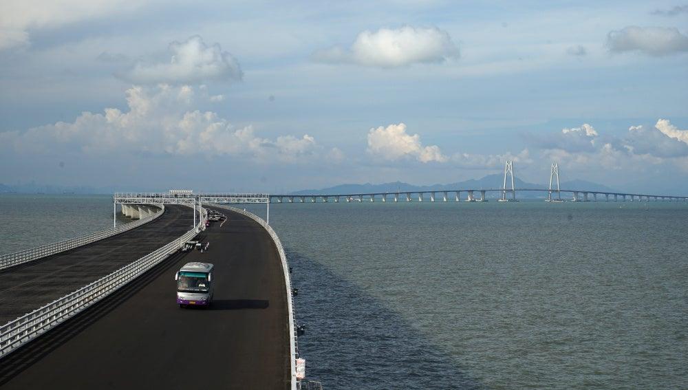 El puente que conectará Hong Kong, Zhuhai y Macao