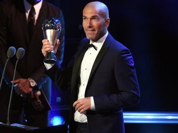 Zidane, galardonado con el premio 'The Best'