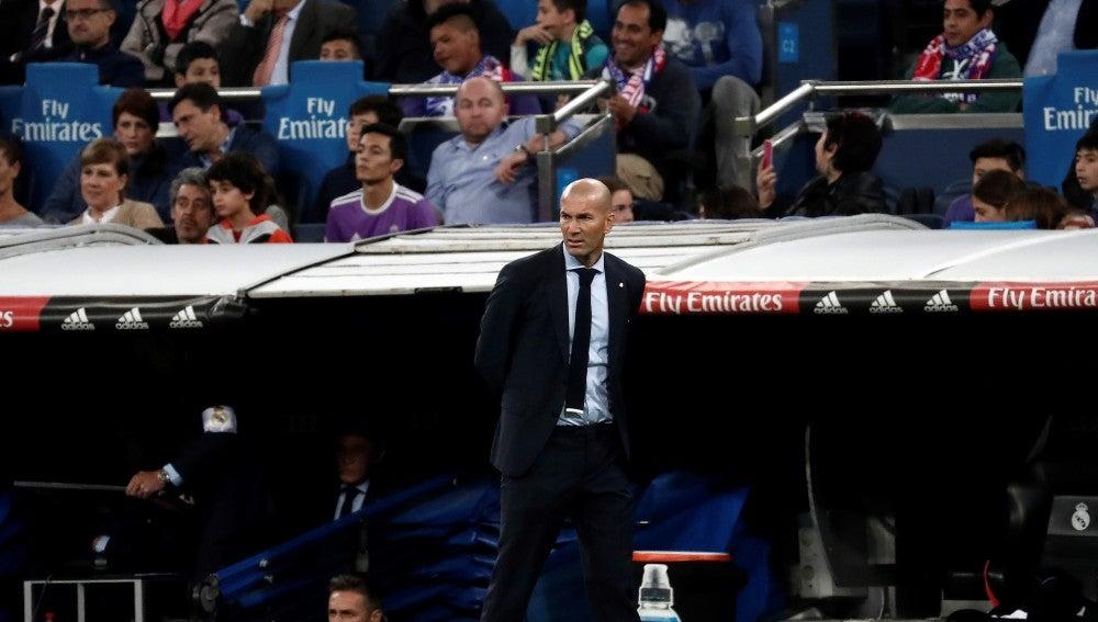 Zidane, durante el partido contra el Eibar