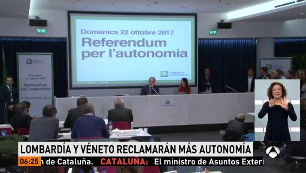 Lombardía y Véneto reclamarán más autonomía