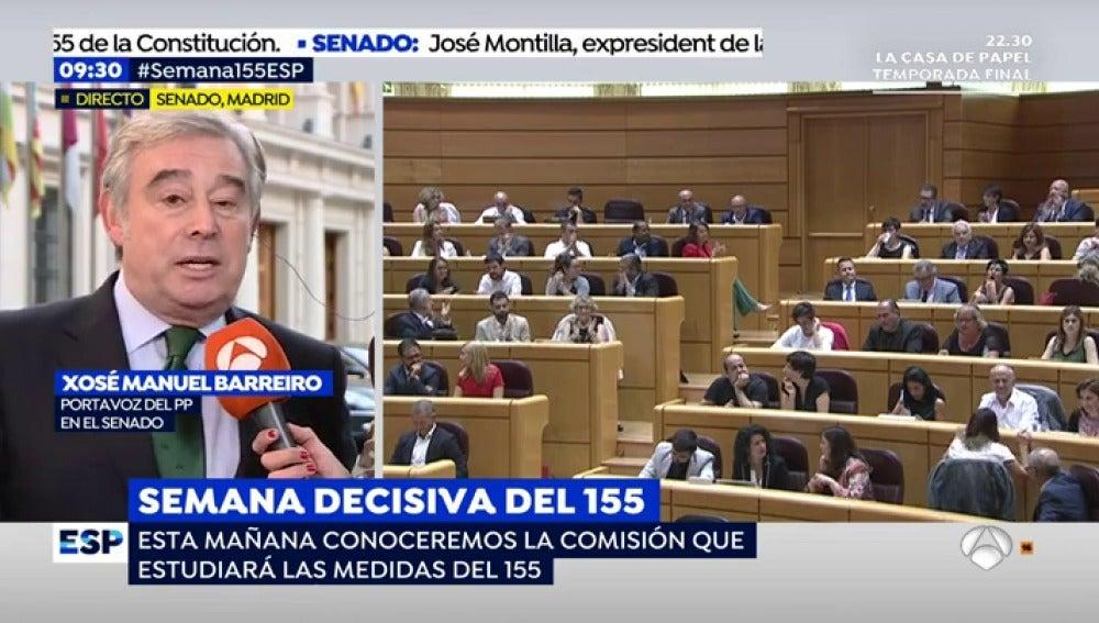 Xosé Manuel Barreiro, portavoz del PP en el Senado