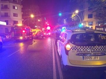 La policía municipal de Madrid en el lugar de los hechos