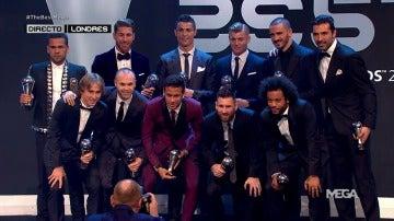 Cinco jugadores del Madrid y tres del Barcelona en el once ideal de los premios The Best