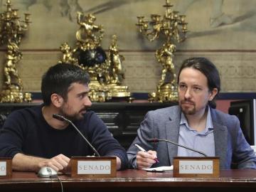 Pablo Iglesias y Ramón Espinar