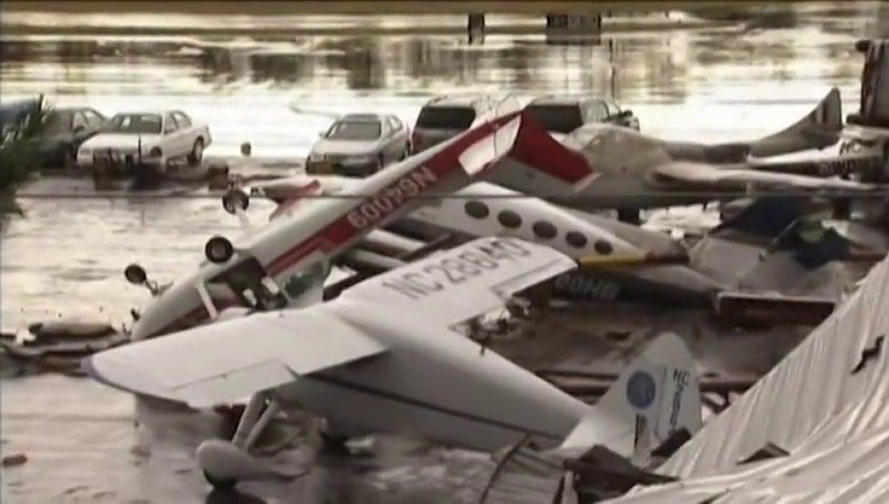 Tormentas en Carolina del Norte deja innumerables destrozos