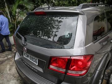 El coche en el que viajaba la turista española asesinada en Brasil