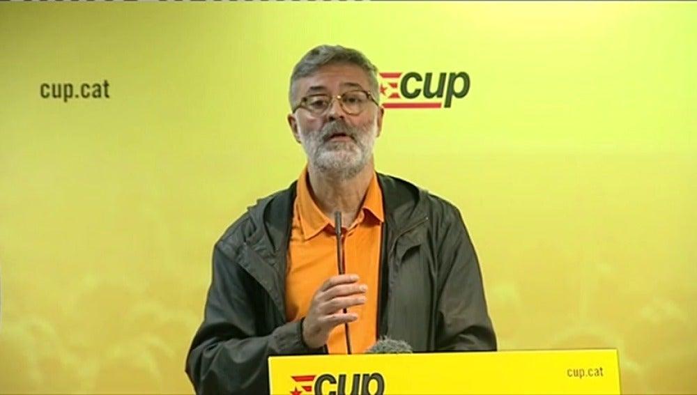 La CUP afirma que el Govern estudia convocar elecciones y advierte de que se opondrán