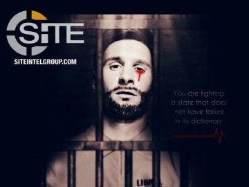 La imagen de Leo Messi sangrando y encarcelado difundida por Daesh