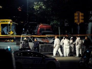 Zona del atentado en Manhattan