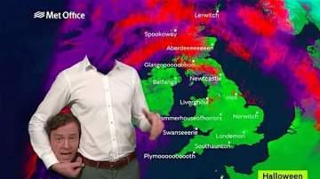 Un meteorólogo 'pierde' la cabeza en Halloween