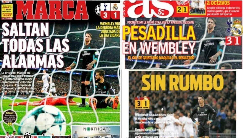 La derrota del Madrid en Wembley, en la prensa