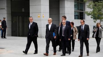 Los exconsejeros de la Generalitat de Cataluña en la Audiencia Nacional