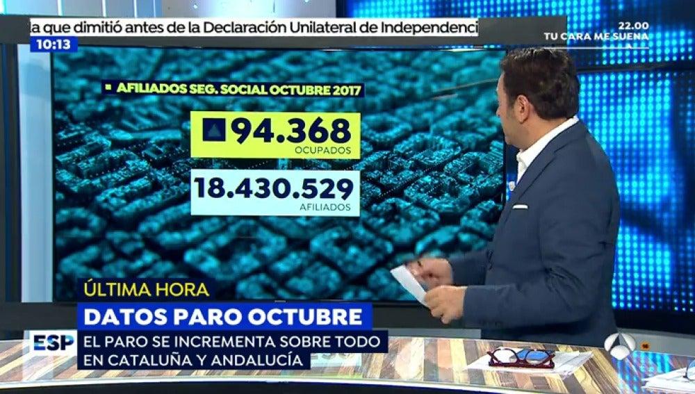 El paro se incrementa sobre todo en Cataluña y Andalucía