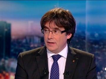 Puigdemont, en una entrevista en Bélgica