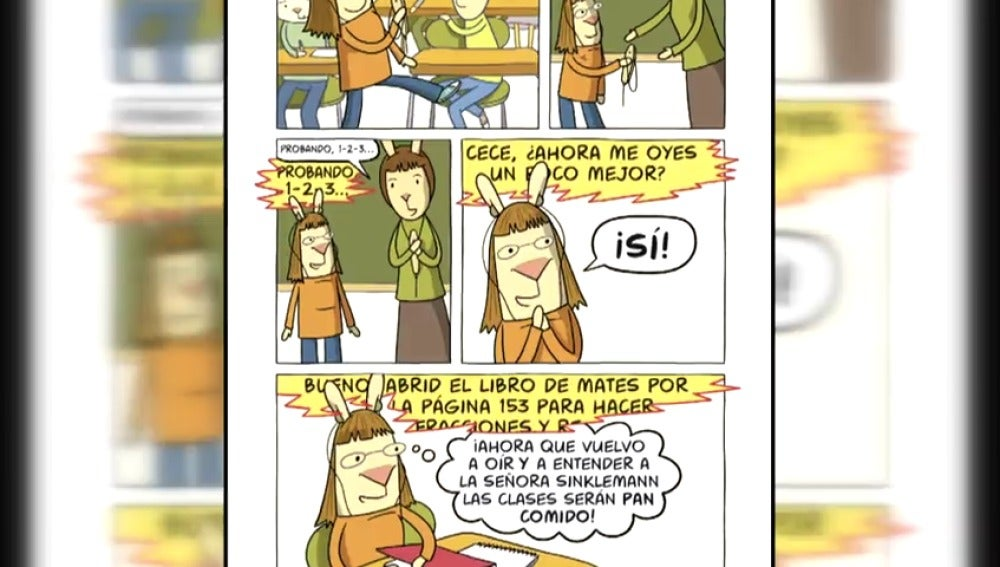 """""""Supersorda"""" es una divertida historia autobiográfica de una ilustradora con problemas de oído"""