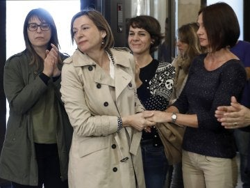 Carme Forcadell, en su regreso al Parlament