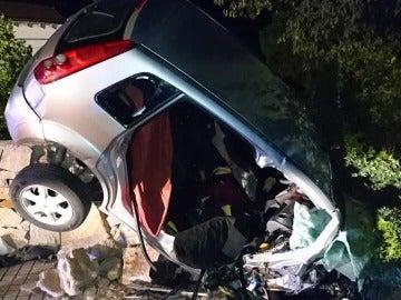 Uno de los vehículos implicados en el accidente en Gandía