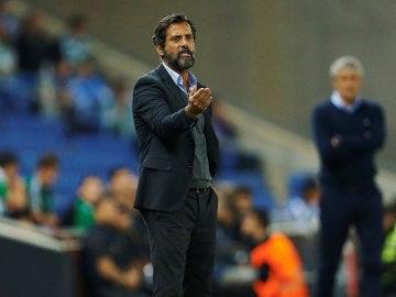 El entrenador del Espanyol, Quique Sánchez Flores