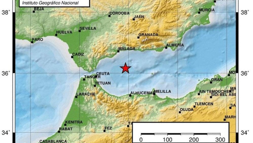 Terremoto de 4 grados de magnitud con epicentro al oeste del Mar de Alborán
