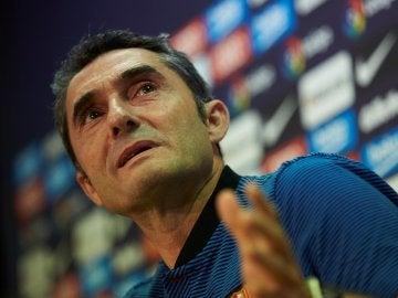 Ernesto Valverde, en rueda de prensa