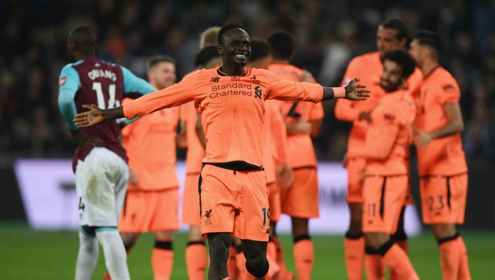 Sadio Mané, con el Liverpool