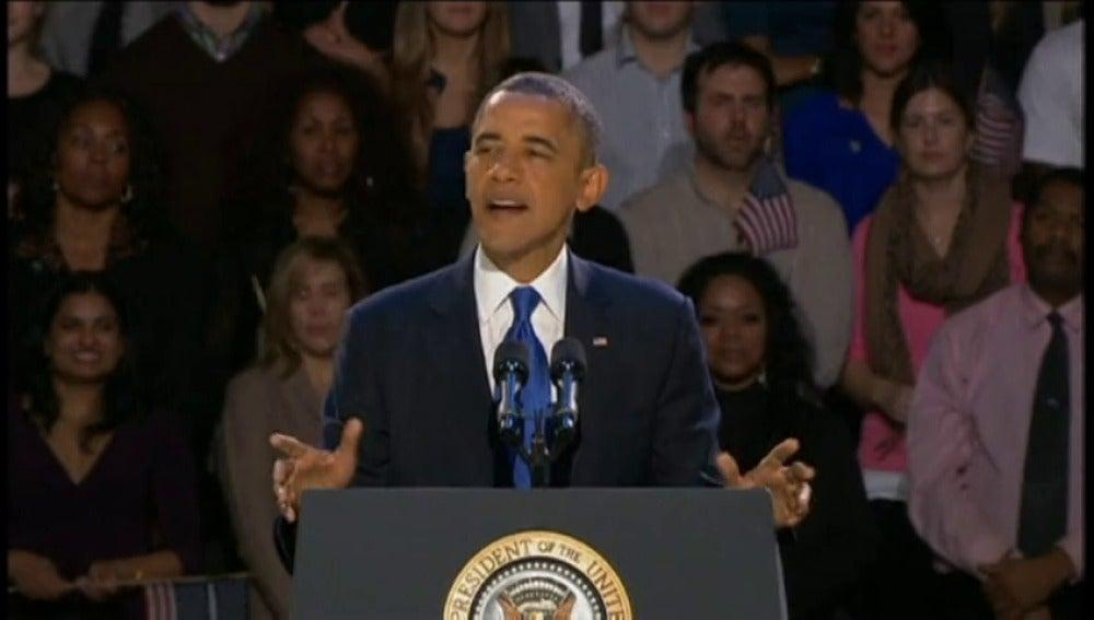 """Obama inauguraba su segundo mandato un 6 de noviembre de 2012 sin renunciar a su """"Yes, we can"""""""