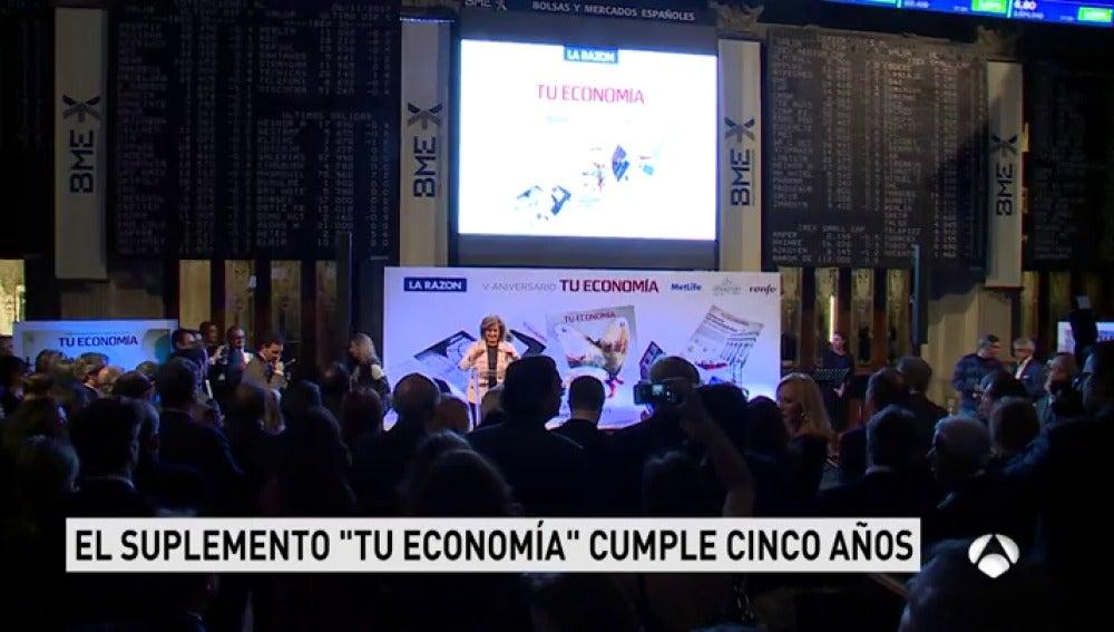 Fátima Báñez participa en el evento por el quinto aniversario del suplemento 'Tu Economía' de 'La Razón'