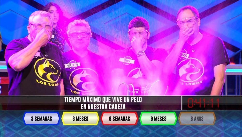 El equipo de 'Los Lobos' en '¡Boom!'.