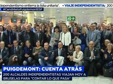 Alcaldes independentistas viajan a Bruselas