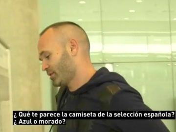 Andrés Iniesta, a su llegada a Madrid