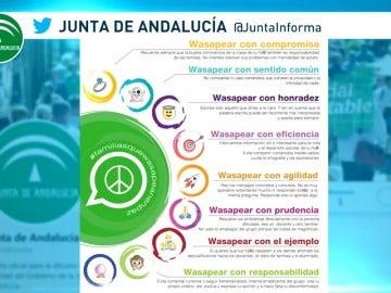 La Junta de Andalucía pone en marcha una campaña para evitar conflictos en los grupos de Whatsapp y favorecer actitudes de convivencia positiva