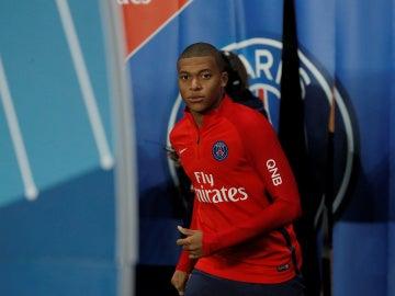 Mbappé, antes de su debut con el PSG