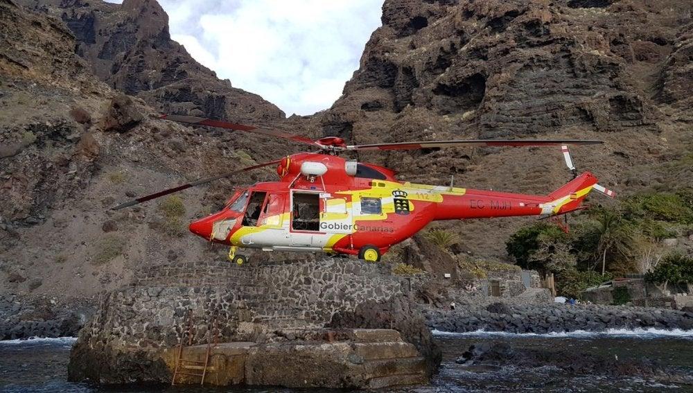 Helicóptero de rescate 112 Canarias