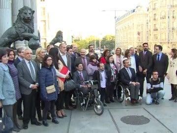 Personas discapacitadas a las puertas del Congreso