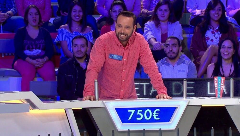 El imperdonable error de Carlos le hace perder 750€