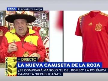 """Manolo 'el del bombo', sobre la nueva camiseta de la Selección: """"Los colores de España son el rojo y el amarillo"""""""