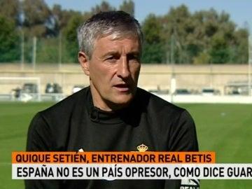 Quique Setién, técnico del Betis
