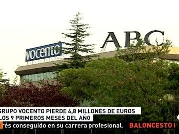 El grupo Vocento acusa la caída de sus ingresos de publicidad y de la venta de ejemplares en los nueve primeros meses del año