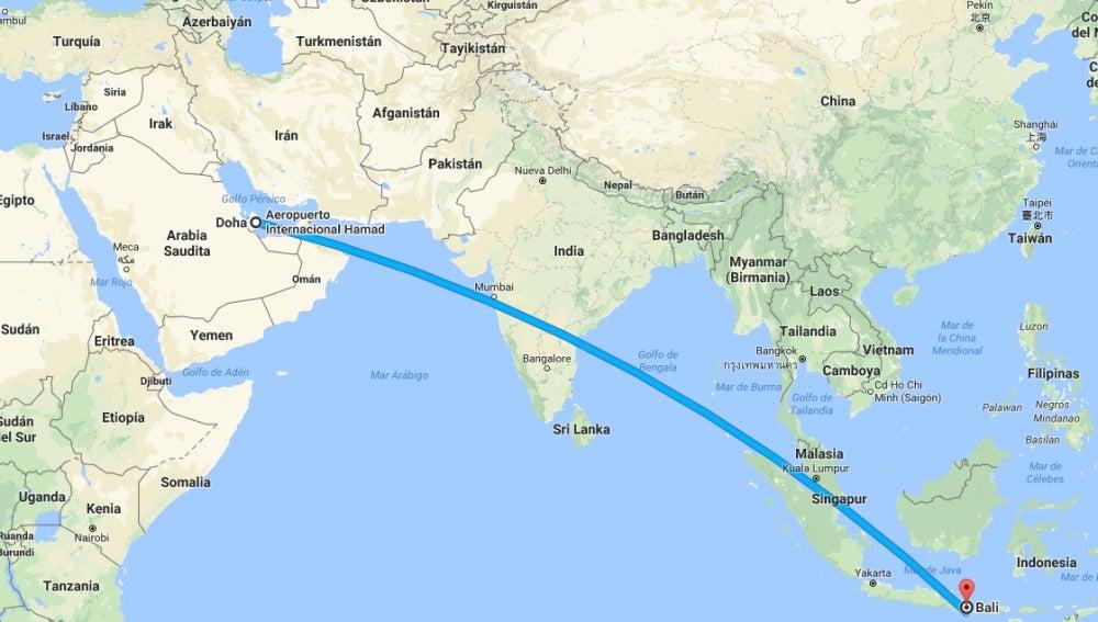 Vuelo de Doha a Bali