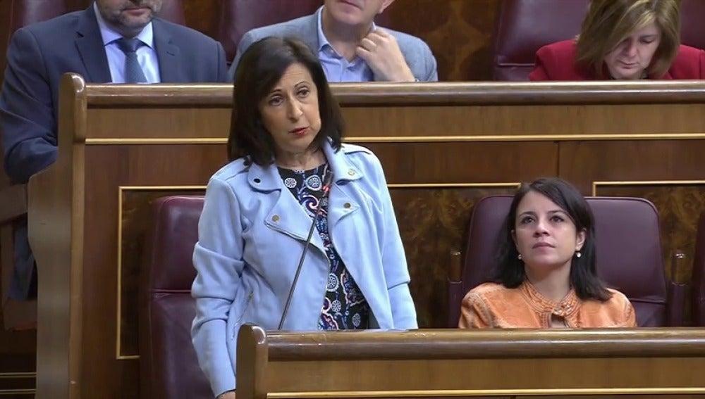 """El lapsus de Margarita Robles en el Congreso: ve en Catalula """"la peor crisis de la dictadura"""""""