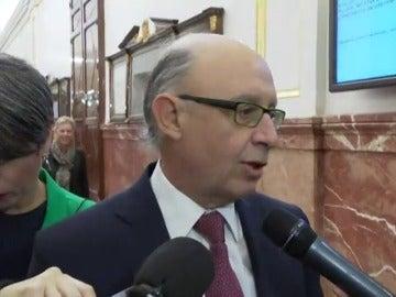 """Cristóbal Montoro, sobre la intervención de cuentas en Madrid: """"No es aceptable que no estén dispuestos a cumplir la ley"""""""