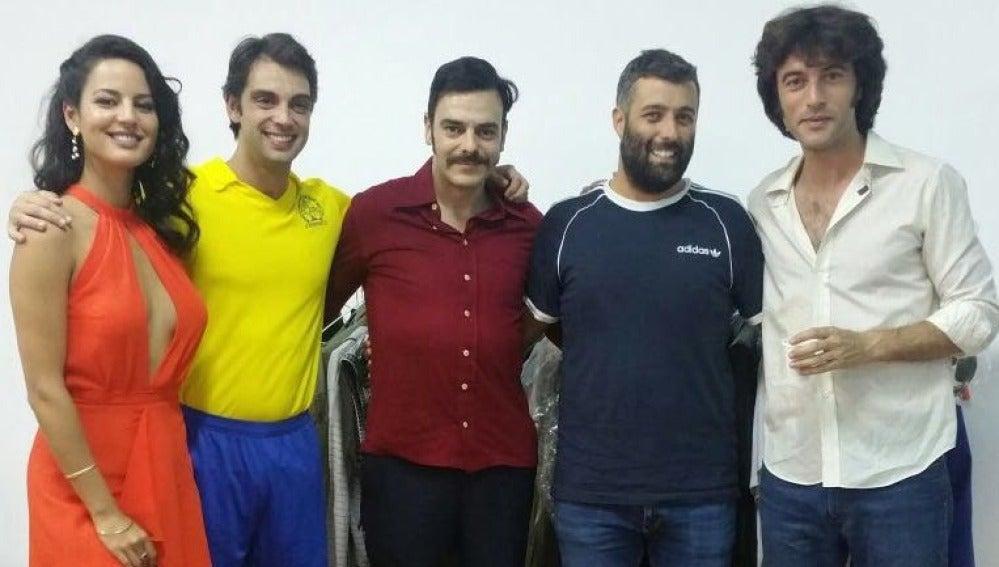 Así fue la visita de Nacho Carretero al rodaje de 'Fariña'