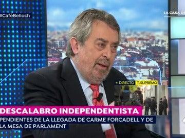 """El exministro de Justicia Belloch: """"Puigdemont es como el 'Capitán Araña', lía a todos sus colaboradores y se va"""""""
