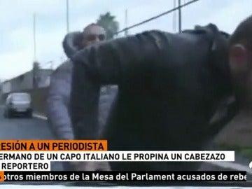 El hermano de un capo italiano rompe la nariz a un periodista de la televisión pública italiana por una pregunta que no le gustaba